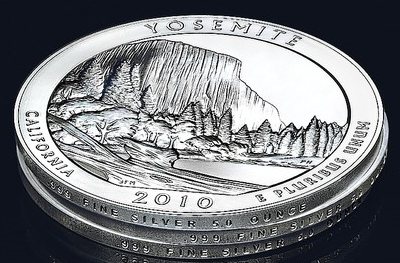 The U.S. Mint has begun offering 5-ounce silver bullion coins as part of their 'America the Beautiful' quarter series.